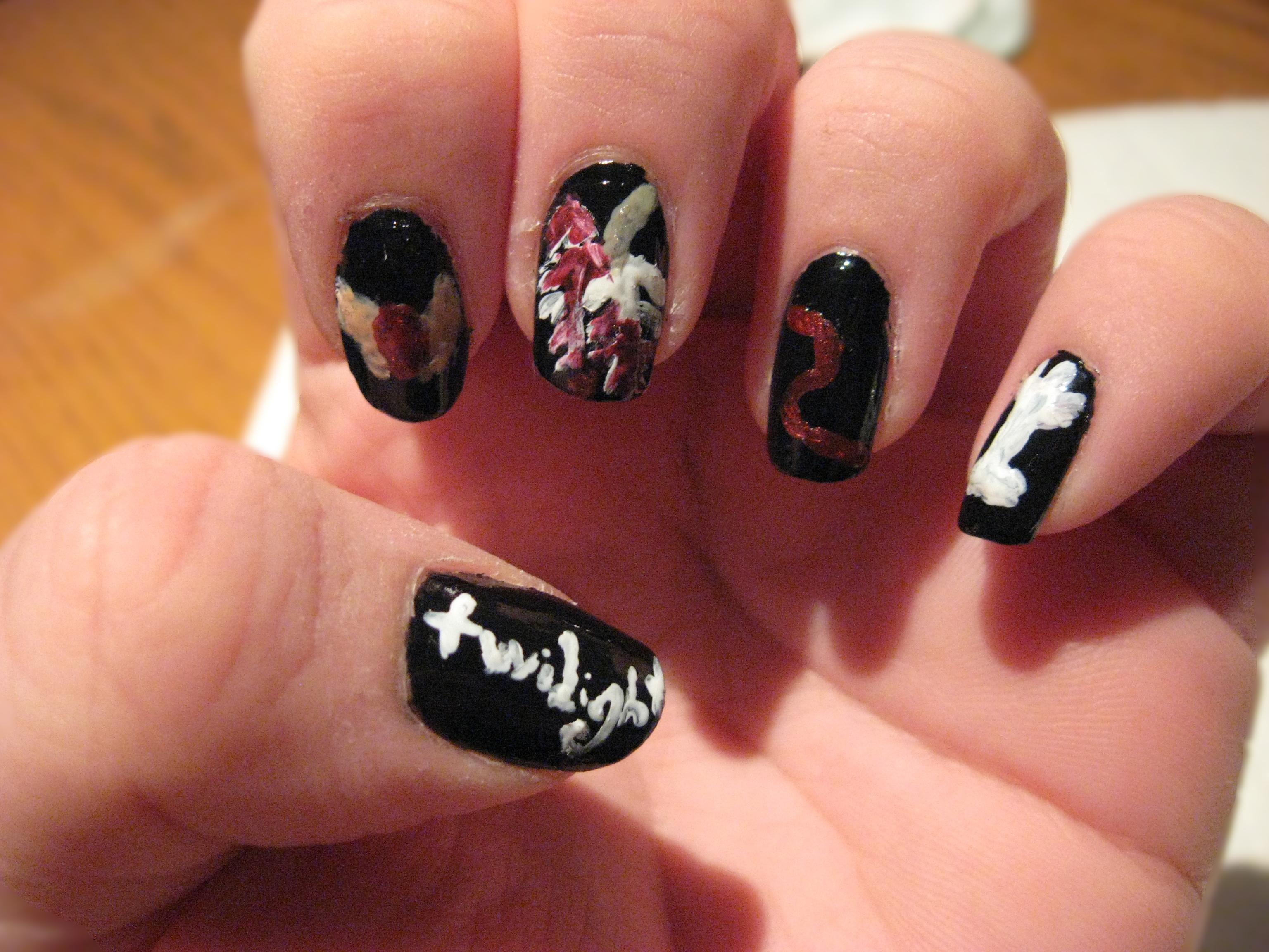 Twilight nail art tutorial prinsesfo Gallery